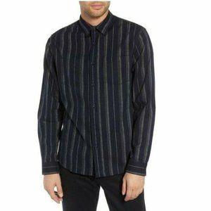 Vince Men's M NWOT Striped Flannel Slim Fit Shirt